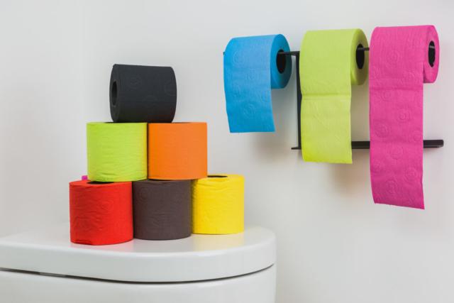 papier toilette couleurs