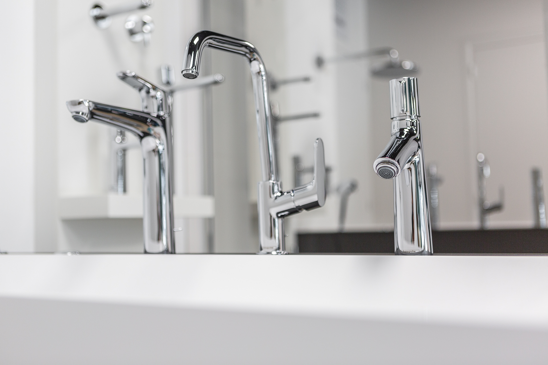 robinets chomés