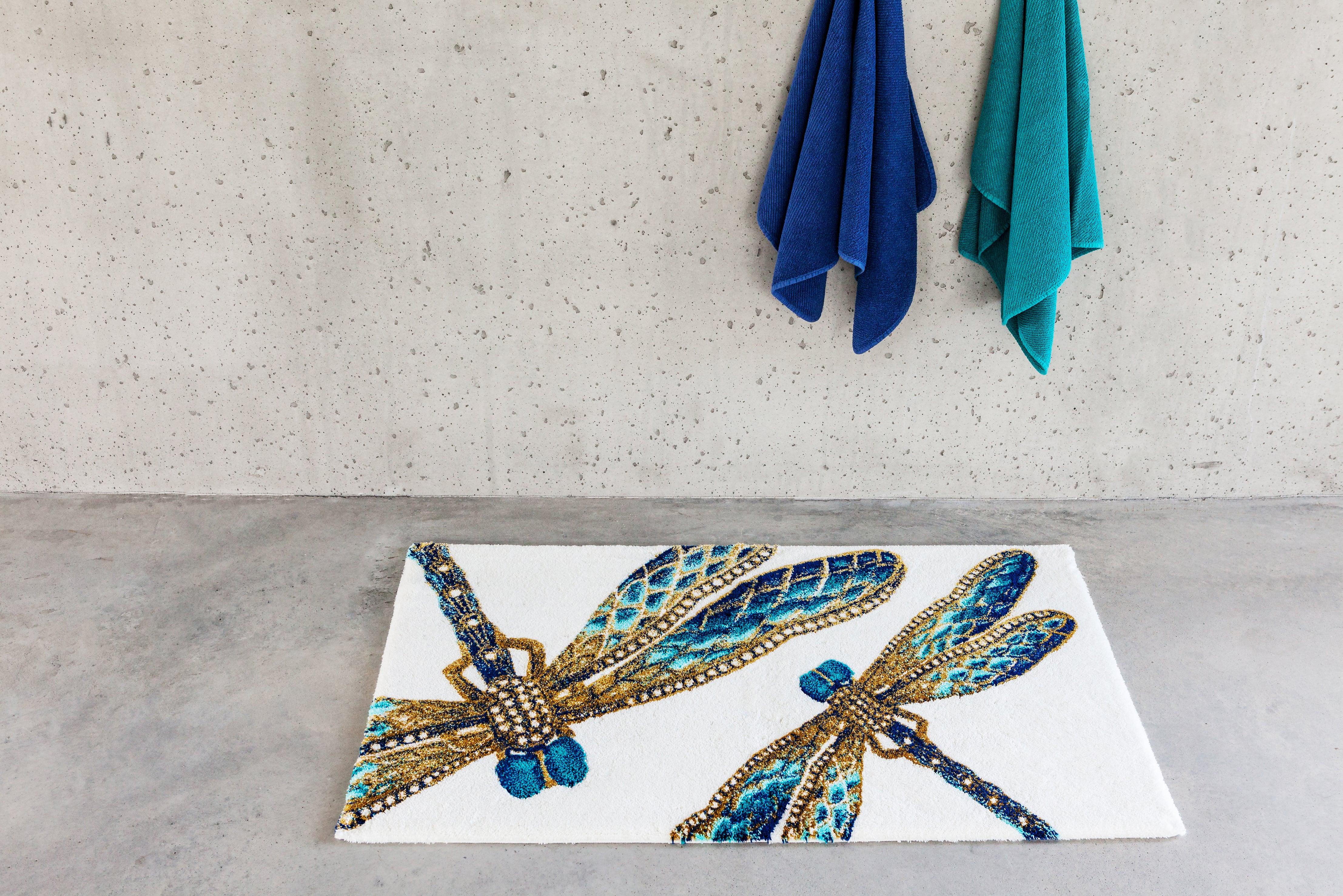 tapis de bain libellule